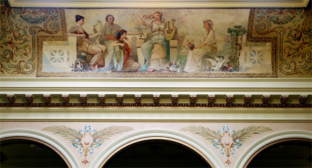 "Painting ""Poetry"" in south atrium ceiling of Federal Complex, Erie, Pennsylvania"