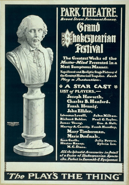 Grand Shakespearian festival the greatest works of the master mind presented in a most sumptuous manner