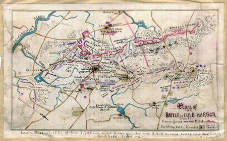 Plan of the Battle of Cold Harbor, June 3rd