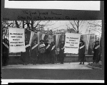 The first picket line - College day in the picket line line.
