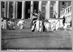 "Florence F. Noyes as ""Liberty"" in suffrage pageant"