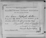 Anne F. Miller's NAWSA membership certificate