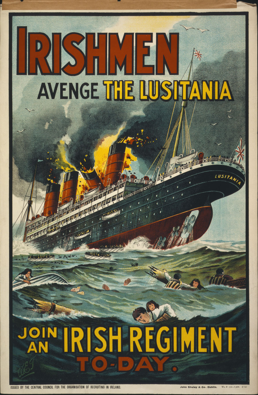 Irishmen - avenge the Lusitania