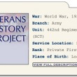 Sam Ozaki, Veterans History Project