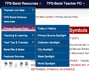 Primary Source Picks subcategories