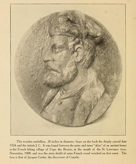 A recently found portrait medallion of Jacques Cartier