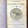 title page of a book entitled Litteratura Iuris (Editio Secunda)