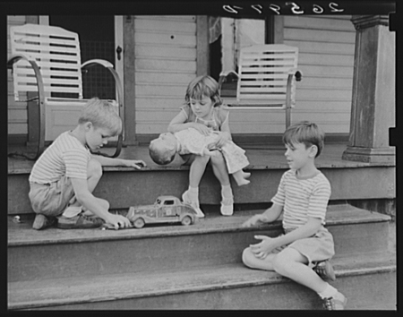 Clifford Shorts' children playing