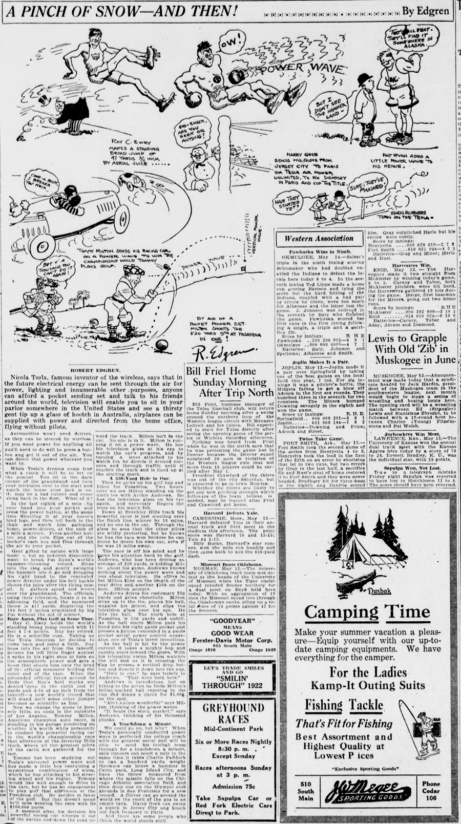 The Morning Tulsa daily world., May 14, 1922, FINAL EDITION, Page 16, Image 16