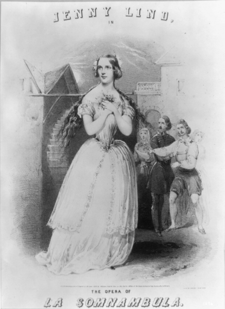 Jenny Lind in the opera of La Somnambula