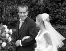 White House wedding. Pres. Nixon with Tricia