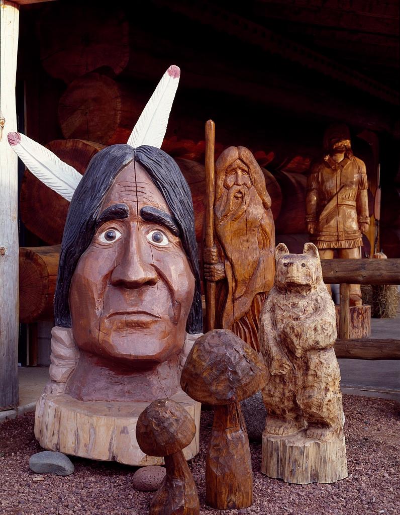 Cedar and wood carvings