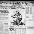 Evening public ledger., October 08, 1915, World's Series Final