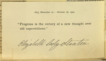 Progress is the victory of a new thought over old superstitions