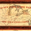 Featured Image: Map of New York & Erie Rail Road
