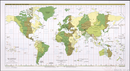 Standard time zones of the world 2011