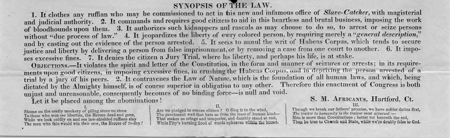 Synopsis of the fugitive slave law