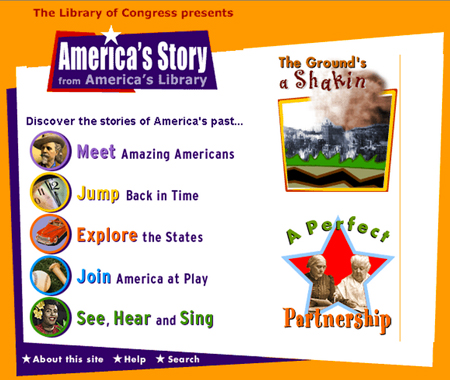 America's Library homepage