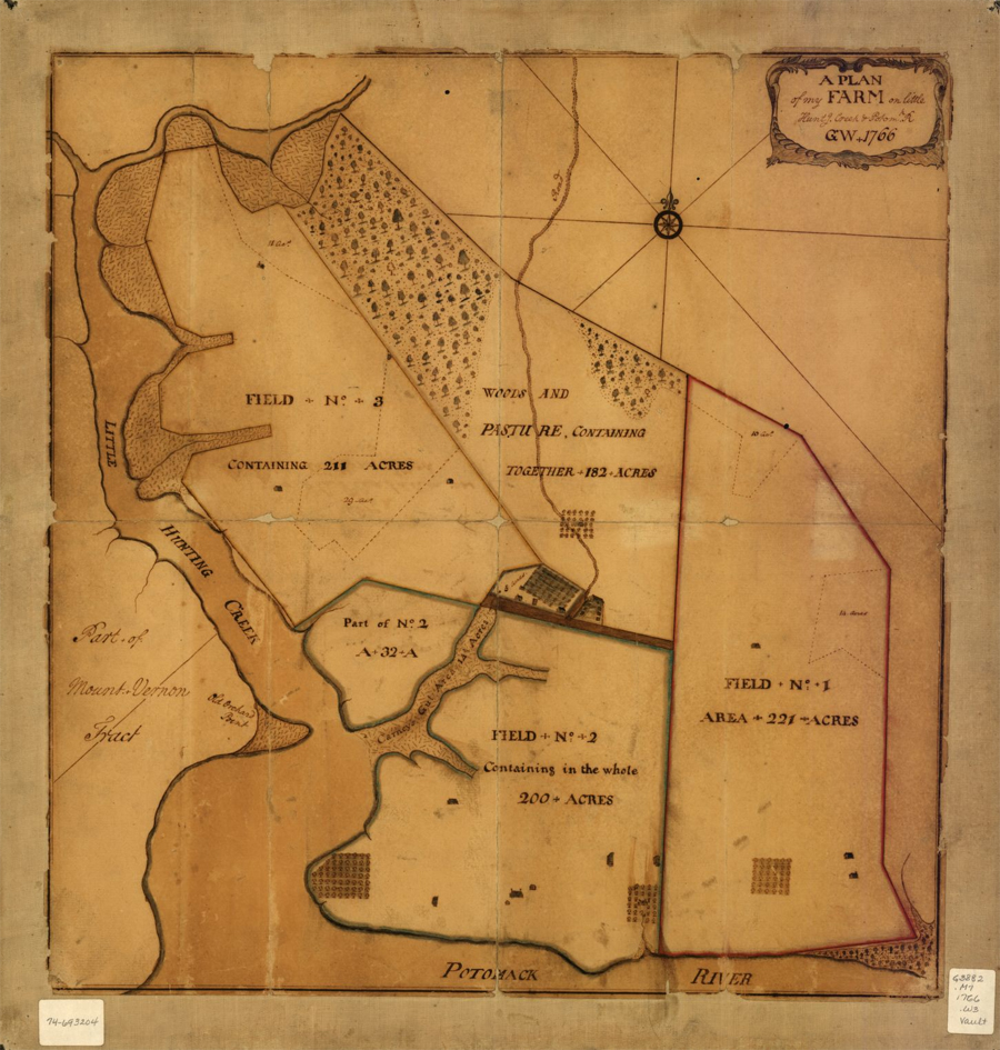 A plan of my farm on Little Huntg. Creek & Potomk. R.