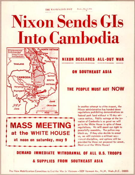 Nixon sends GIs into Cambodia