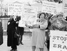 Demonstrators opposed to the ERA in front of the White House