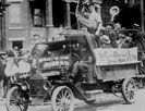 Pittsburgh 1919 strikers demonstrating in car