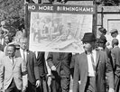 Congress of Racial Equality march for Negro youngsters killed in Birmingham bombings
