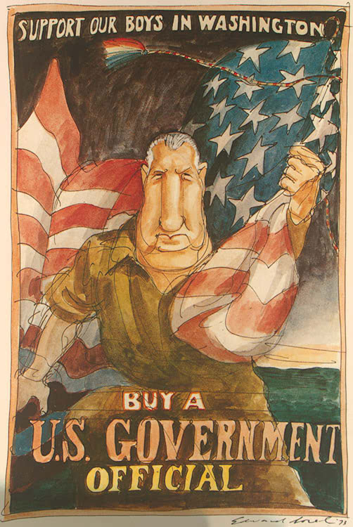 Spiro Agnew in a parody of a World War I poster