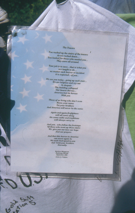 Poetry Left At Memorial