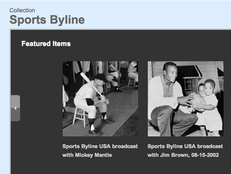 Sports Byline Collection, Library of Congress