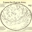 Featured Source: Evening Sky Map April, 1912