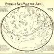 Evening Sky Map for April 1912