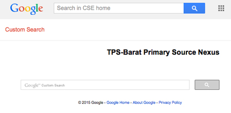TPS-Barat Primary Source Nexus Google Custom Search Engine