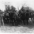 President Warren G. Harding and his cabinet posed on the White House Lawn, with photographers
