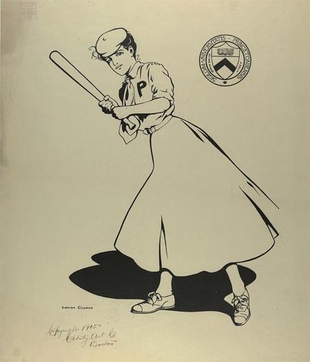 Princeton University woman baseball player