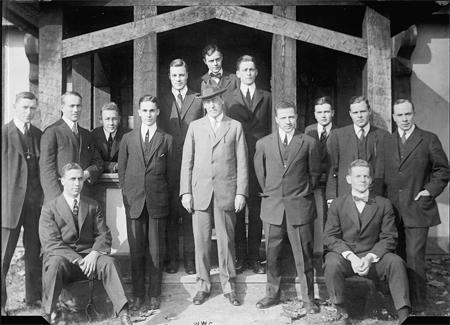 PRINCETON UNIVERSITY STUDENTS WITH WOODROW WILSON