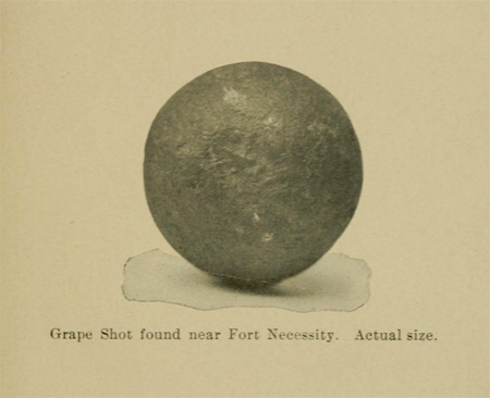 Grape shot found near Fort Necessity