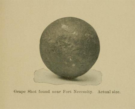 Grape shot found near Fort Necessity