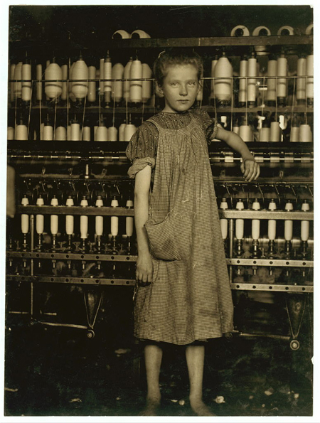 Addie Card, anaemic little spinner in North Pownal Cotton Mill