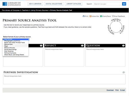 Digital Primary Source Analysis Tool
