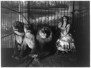 Adjie and the lions