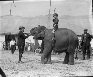 Teddy Roosevelt at circus