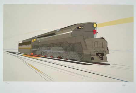Design sketch for T-1 Locomotive Pennsylvania Railroad