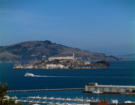 View of Alcatraz Island, San Francisco, California