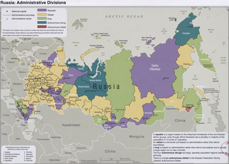 Russia--administrative divisions
