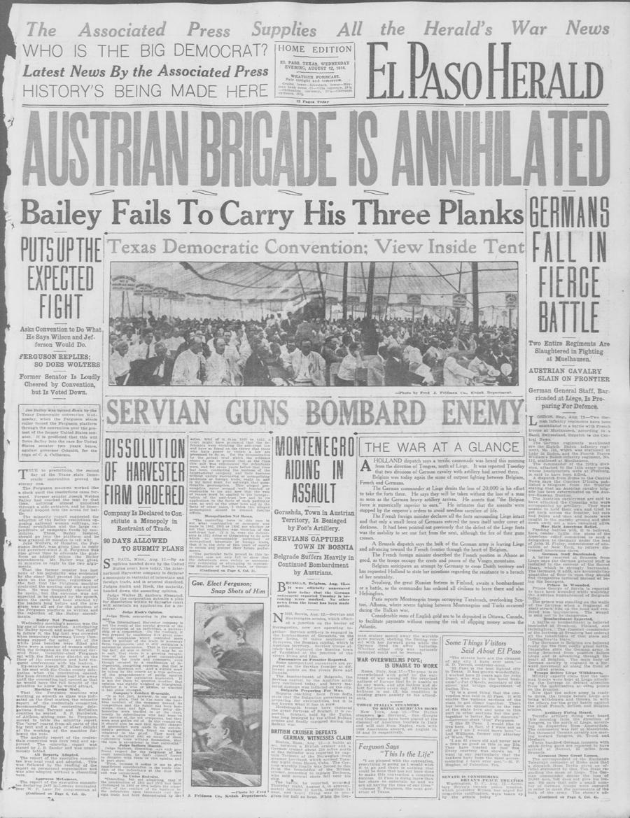 El Paso herald. (El Paso, Tex.), 12 Aug. 1914