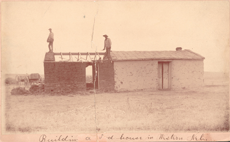 Building a Sod House in Western Nebraska