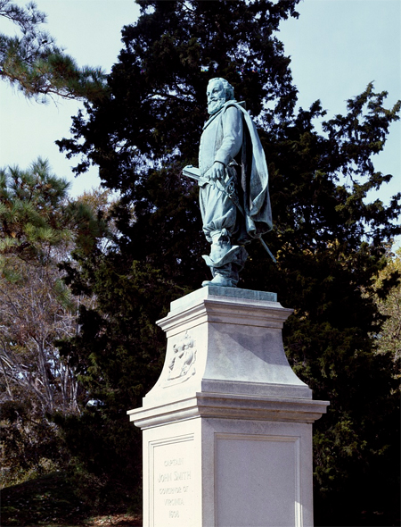 Statue of Captain John Smith on Jamestown Island