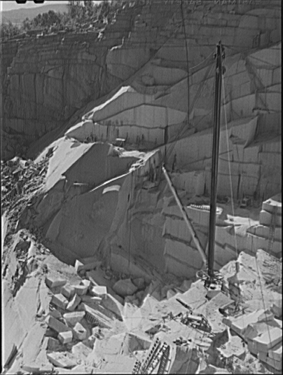 At the Morse and Whitmore granite quarries in East Barre, Vermont