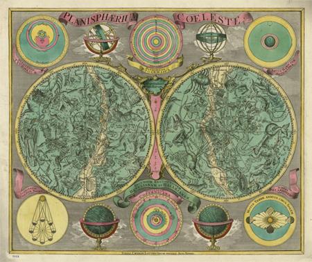 Planisphaerium coeleste : secundum restitutionem Hevelianam et Hallejanam